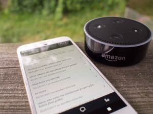SMS text messages with Alexa echo devices